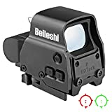 beileshi 558 Lunette de visée Holographic Sight Red Green Dot Sight, 20 Niveaux de luminosité, Objectif 35x24 mm adapté à Une Piste de 20 mm