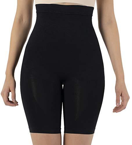 UnsichtBra Bauch Weg Damen Figurformende Miederhose Bodyformer mit Bein stark Figurformende Unterwäsche (sw_0600)(XL (48-54),Schwarz)