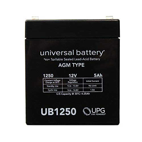 Universal Power Group 12V 5AH Alarm Security Fire System Battery 12 Volt 5AH SLA Battery