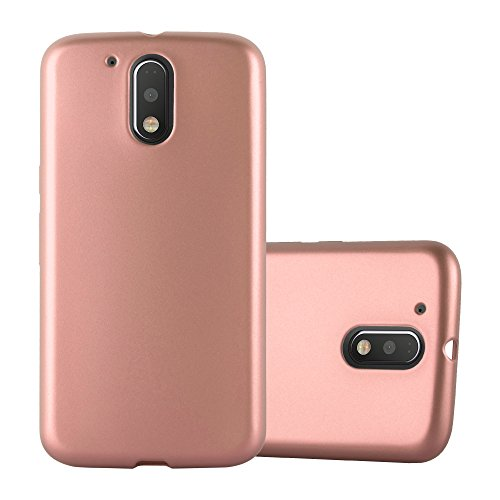 Cadorabo Funda para Motorola Moto G4 / G4 Plus en Metallic Oro - Cubierta Proteccíon de Silicona TPU Delgada e Flexible con Antichoque - Gel Case Cover Carcasa Ligera
