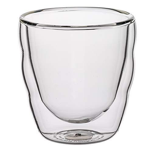 [ ボダム ] bodum グラス ピラトゥス ダブルウォールグラス 80mL 2個セット 11477-10 PILATUS 二重構造 耐熱 保温 Double Wall Glass [並行輸入品]