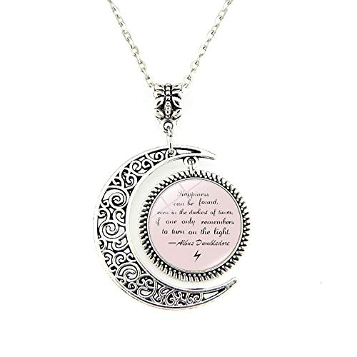 Moon Pendant Inspirational Pendants Necklace Quote Jewelry Gift for Friends