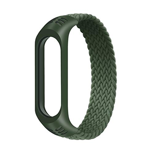 Para MI BAND 3 4 5 Pulsera Reloj Banda A prueba de agua Smart Reloj Correa #147258 (Color : 01Olive green)