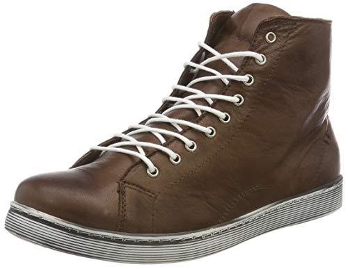 Andrea Conti Damen 0341500 Hohe Sneaker, Braun (Dunkelbraun 061), 39 EU