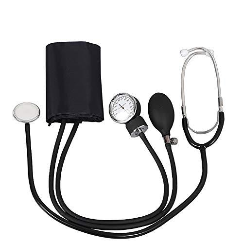 Manual Bloeddrukmeter BP manchet Gauge Aneroid Bloeddrukmeter Machine, Pocket Aneroid Bloeddrukmeter met stethoscoop, manchet en draagtas, Zwart