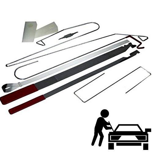 BMCC - Juego de herramientas especiales para apertura de coche bloqueadas sin daños, abrir los coches bloqueados sin cerrajeros o romper el cristal, solo para uso profesional