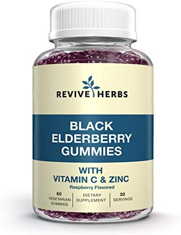 Black Elderberry Gummies with Zinc and Vitamin C Sambucus Nigra Naturally Supports Healthy Immune product image