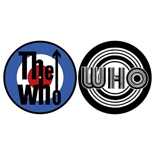 WHO THE WHO DJ SLIPMAT FILZMATTE Target Logo - 2er Set