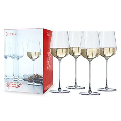 Spiegelau & Nachtmann, 4-teiliges Weißweinglas-Set, Kristallglas, 365 ml, Willsberger Anniversary, 1416182
