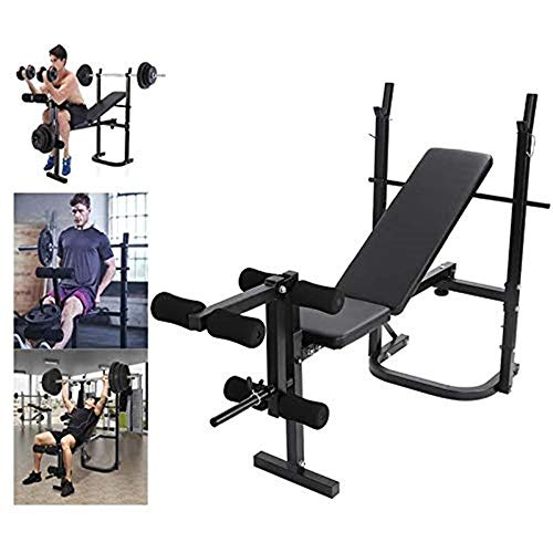 Weight Bench Press Strength Training Adjustable Folding Ab Olympic Benches Barbell Lifting Workout Fitness Barbell Rack Home Gym Equipment (style 1)