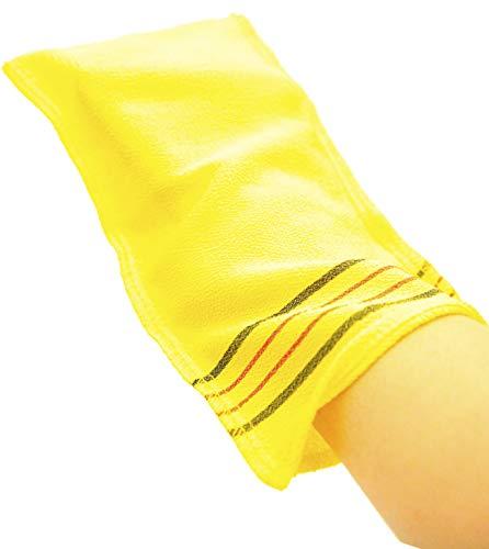Romantic House toalla exfoliante coreana extra viscos baño malla cuerpo lavado paño rayón 100% Spa Scrub Italia guantes eliminan la piel muerta XL tamaño grande