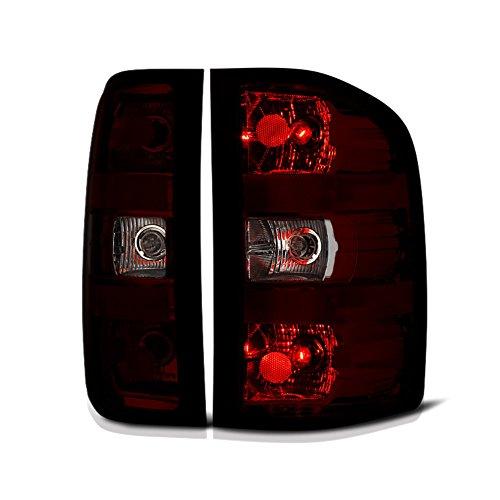 VIPMOTOZ Smoke Red Lens Tail Light Lamp Assembly For 2007-2013 Chevy Silverado...