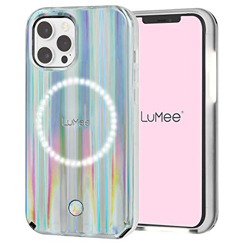 LuMee Halo by Paris Hilton - Holographic - Light Up Selfie Case for iPhone 12 Pro Max (5G) - Front & Rear Illumination - 6.7 Inch - Holographic by Paris