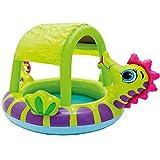 Earthily Aufblasbares Wasserspielcenter - PVC Aufstellpool Planschbecken,Seepferdchen Spiele Wasserpark für Baby Kinder