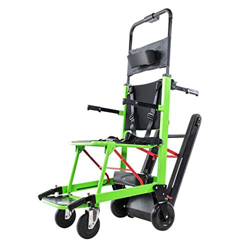 La silla de ruedas eléctrica plegable puede subir escaleras. Silla de ruedas portátil. Viaje ligero, para discapacitados y ancianos. Sube y baja la escalera completamente automática.,Verde
