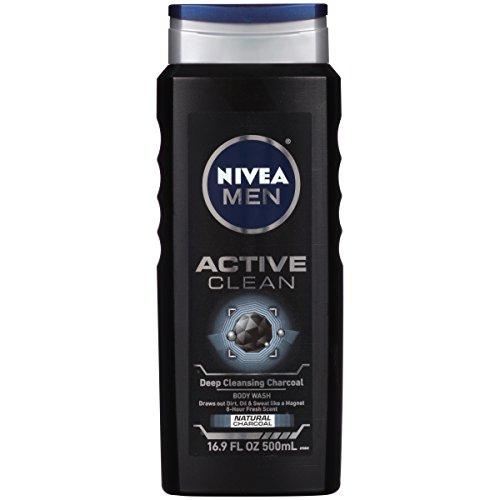 Nivea Men NIVEA FOR MEN Body Wash Active Clean 16,9 oz (Pack de 6)