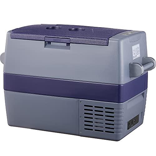 60L Auto Kühlschrank, -20℃~10℃ Kompressor Kühlbox, Große Kapazität Elektrische Kühlschrank, 12/24V DC und 100-240V AC für Outdoor, Fahrzeuge, Camping, Reisen, Haus (60L)
