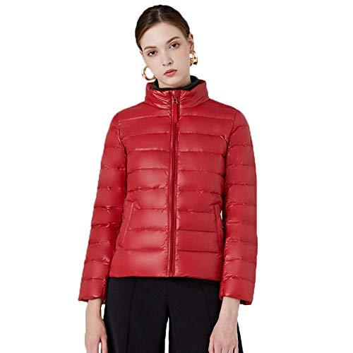 N / A Damen Wm's Coat Leichte Daunenjacke, 700 Fill-Power, Warmer Parka, Wintermantel, wasserabweisend, Winddicht-rot_2XL