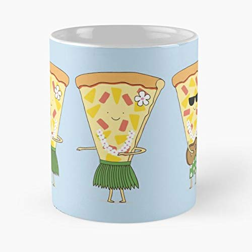 Hawaiian Pizza Classic Mug Coffee Tea - Funny Gifts For Men And Women Gift Cup White 11 Oz The Best Holidays