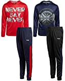 Hind Toddler/Little Boys' Tracksuit Set – Athletic Long Sleeve T-Shirt and Jogger Sweatpants Playwear Set (2 Pack), (Never Say Never, 4)