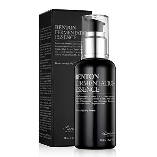 BENTON Fermentation Essence 100ml (3.38 fl.oz.) - Galactomyces Ferment Filtrate & Bifida Skin Irming & Vitalizing Essence, Anti-Wrinkle, Hydrating, for Spente & Dry Skin
