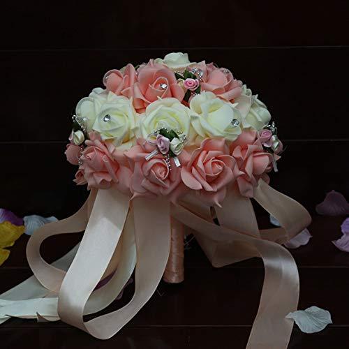 Yuhualiyi123 PE Hand die künstliche Blume Simulation Rose Holding Bouquet Bride Holding Bouquet Hochzeits Fotografie Blumenstrauß hält 1 Bündel