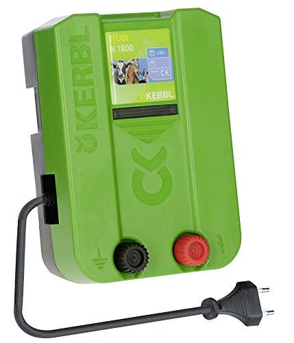 Kerbl Weidezaungerät Titan N 1800, 1.8 J Weidezaun Gerät Stromversorgung Netzgerät 230V