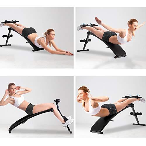 OneTwoFit Panca ad arco Panca addominale Tavola inclinata Attrezzo regolabile per allenamento tonificazione dei muscoli e aumento della forza OT085