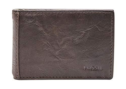 Fossil Geldbörse Neel Money Clip Bifold Braun Herren Portemonnaie Leder Börse Geldbeutel Brieftasche Herrengeldbörse