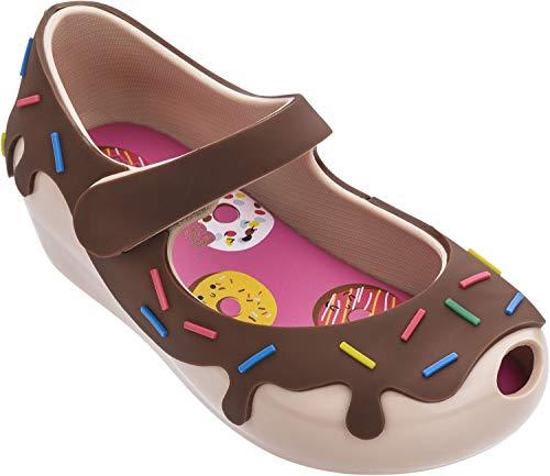 Melissa Mini Ultragirl Donut BB Ballet Shoes, Nude Brown, Size 12 Little Kid