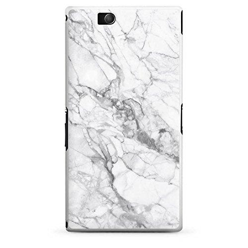 DeinDesign Hülle kompatibel mit Sony Xperia Z Ultra Handyhülle Case Marmor Erscheinungsbild Frauen Marble