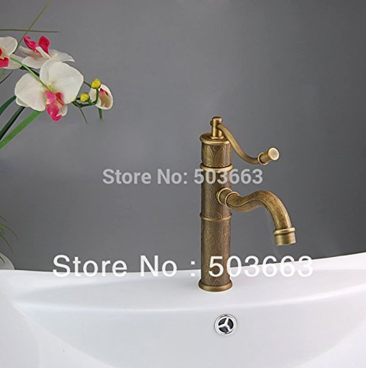 Maifeini The Top Level Modern Deck Install Bathroom And Kitchen Sinks Faucets Classic Patterns Of Mixer Tap?,?Brass