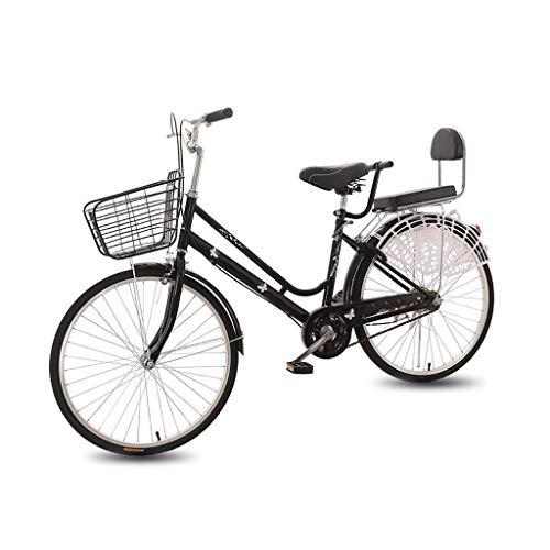 OFFA Bicicleta Damas De Bicicletas, 24/26' Sola Velocidad De La Bicicleta Y Ligero For Adultos Commuters Hombres De Las Mujeres Unisex Estudiante, Mini Marco De Acero De Alto Carbono (Size : 26')