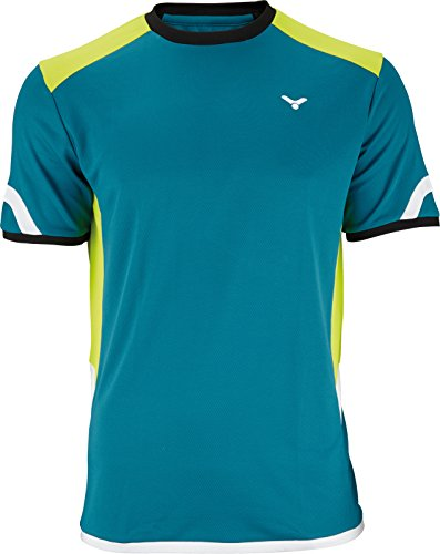 VICTOR Badmintonshirt/Squashshirt/Sportshirt T-Shirt Function Unisex, erhältlich Größen (Petrol, XXL)