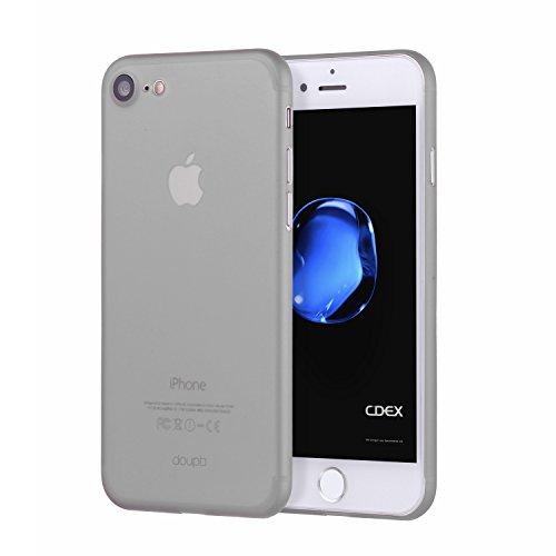 doupi UltraSlim Hülle kompatibel für iPhone SE (2020) / iPhone 8/7 (4,7 Zoll), Ultra Dünn Fein Matt Oberfläche Handyhülle Cover Bumper Schutz Schale Hard Hülle Design Schutzhülle, grau