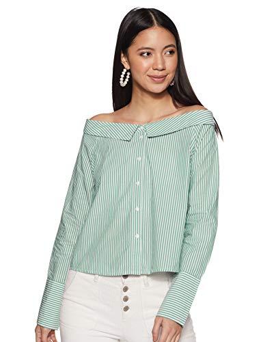 ONLY Boxy blouse groen lichtwit