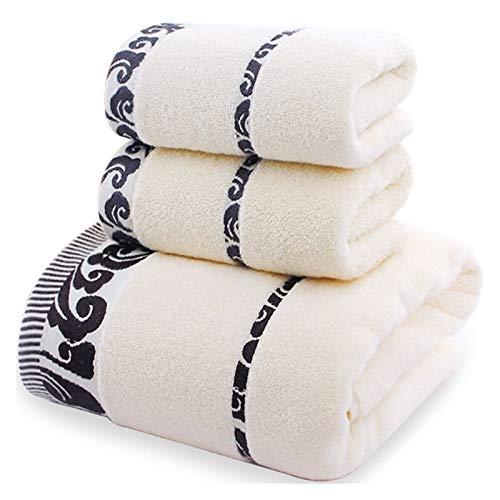 ZXF Toalla de Toalla de Toalla de Toalla de algodón de 3 Piezas Toalla de baño 140x70 cm Toalla 35x75cm Cuarto de baño (Color : 3pcs White)