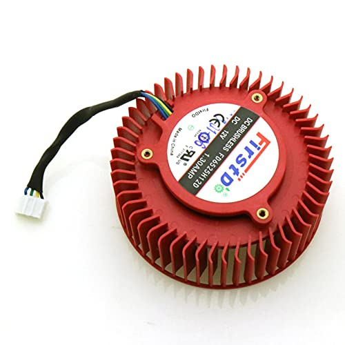 XWSQQ FD6525H12D 65mm 12V 1.3A 4 Pin Ventilador Enfriador de Tarjeta de Video para AMD Radeon R9 270 270X Ventilador de enfriamiento de Tarjeta gráfica