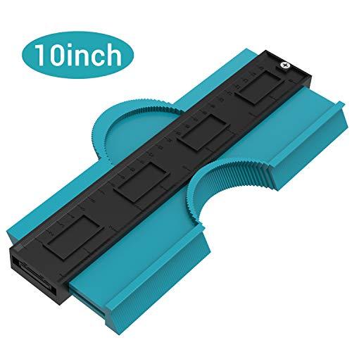 Preisvergleich Produktbild Asgens Konturenlehre, 25cm / 10 in Profilmessgerät Lineal Contour Duplicator für präzise Messungen Fliesen Laminat Holz Markierungswerkzeug für perfekte Passform und einfaches Schneiden(Blau)