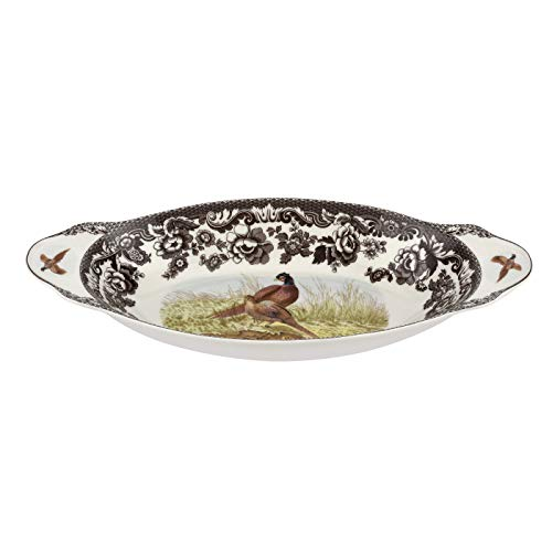 Spode Woodland Bread Tray Pheasant Design (15.25in x 7in) - Fine Porcelain