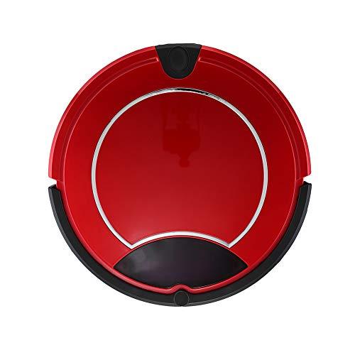 H & YL stofzuiger robot, vloerreiniging robot zelf opladen met afstandsbediening, 4 reinigingsmodi voor kruimels dierenharen op tapijten, houten vloer, tegels, rood