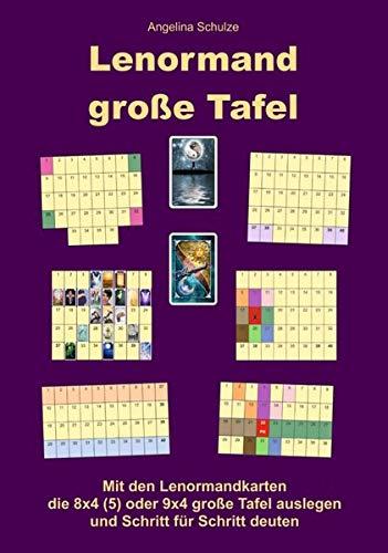Lenormand große Tafel: Mit den Lenormandkarten die 8x4 (5) oder 9x4 große Tafel auslegen und Schritt für Schritt deuten