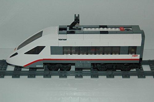 Gebrauchte Bausteine Ersatz für Lego System Lego RC Eisenbahn Train 60051 Lok Ice Triebwagen inkl. Power F. Engine KOMPATIBEL MIT Lego RC System