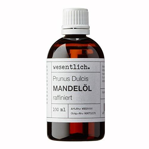 Mandelöl 100ml - 100{10243bff40abc803c3a825bd9e34f2b007451c3f4afe8e1f4654e449fbdbd367} reines Basisöl von wesentlich. - natürliche Pflege für Haut und Haar