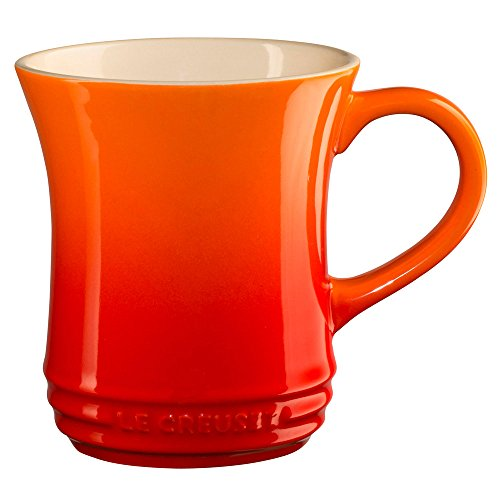 Le Creuset Stoneware Tea Mug, 14 oz., Flame
