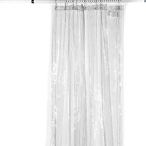 XJJUN Lona, Tela Suave De PVC Transparente, Película Suave De Protección Solar Y Lluvia De 0,3 Mm, Cortina De Viento Y Lluvia para Balcón, con Perforaciones (Color : Claro, Size : 1.2x2m)