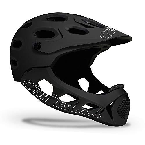 AKDSteel Casco ligero Mountain Cross-Country Road Bike Cycle Casco integral Extreme Sports Casco de seguridad negro blanco