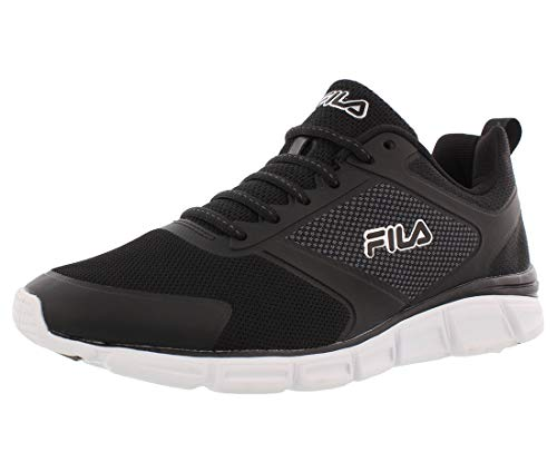 Fila Mens Memory Foam SteelSprint Athletic Shoes (13, Black)