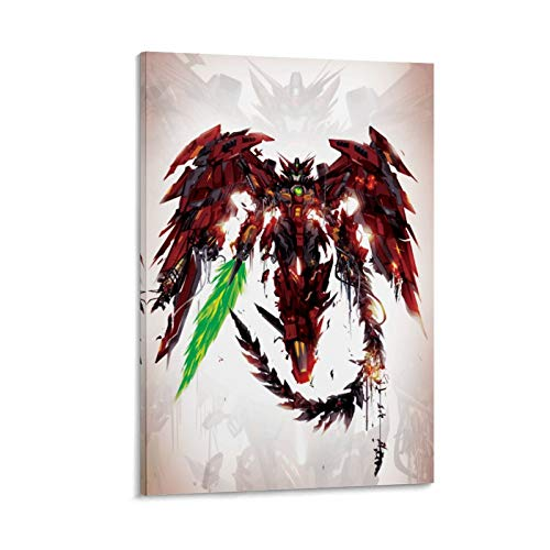 XIAOQIANG Gundam Wing Epyon Anime Canvas Art Poster and Wall Art Picture Print Modern Family Bedroom Decor Posters 16x24inch(40x60cm)