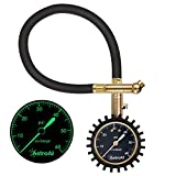 AstroAI Tire Pressure Gauge Expert, 0-60 PSI, Certified ANSI B40.1 Accurate with Improved Needle and Chuck